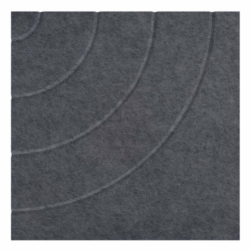 """Wall-Mounted SoundSorb Acoustic Panels 24"""" Square Cloud Dark Gray Density Polyester"""