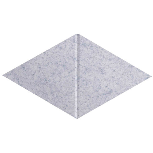 "Wall-Mounted SoundSorb Acoustic Panels 12"" x 21"" Rhomboid Canyon Marble Gray High Density Polyester"