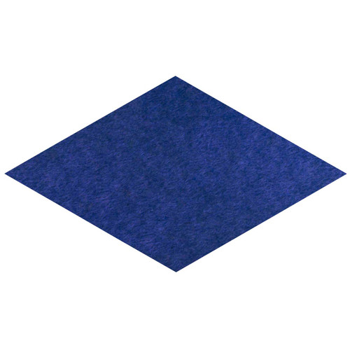 "Wall-Mounted SoundSorb Acoustic Panels 12"" x 21"" Rhomboid Flat Blue High Density Polyester"