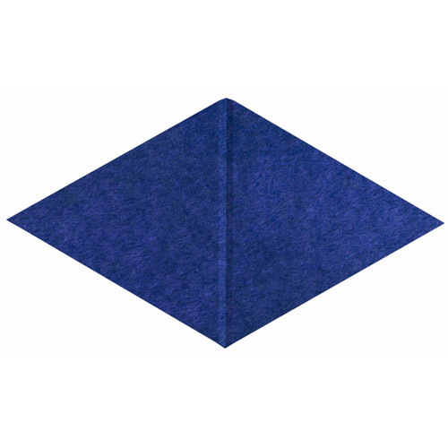 "Wall-Mounted SoundSorb Acoustic Panels 12"" x 21"" Rhomboid Canyon Blue High Density Polyester"