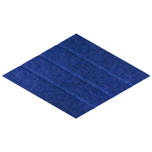 "Wall-Mounted SoundSorb Acoustic Panels 12"" x 21"" Rhomboid Page Right Blue High Density Polyester"