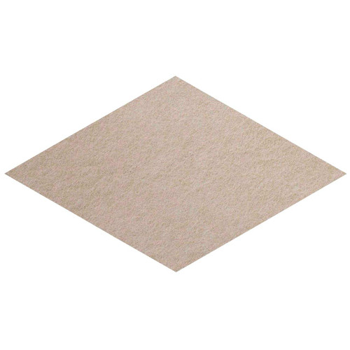 "Wall-Mounted SoundSorb Acoustic Panels 12"" x 21"" Rhomboid Flat Beige High Density Polyester"