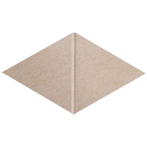 """Wall-Mounted SoundSorb Acoustic Panels 12"""" x 21"""" Rhomboid Canyon Beige High Density Polyester"""