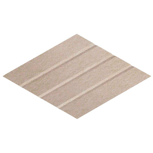 "Wall-Mounted SoundSorb Acoustic Panels 12"" x 21"" Rhomboid Page Left Beige High Density Polyester"