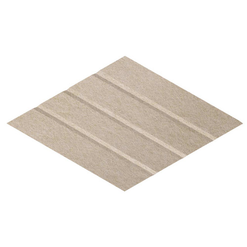 """Wall-Mounted SoundSorb Acoustic Panels 12"""" x 21"""" Rhomboid Page Right Beige High Density Polyester"""