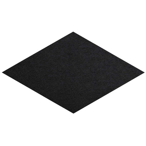 "Wall-Mounted SoundSorb Acoustic Panels 12"" x 21"" Rhomboid Flat Black High Density Polyester"