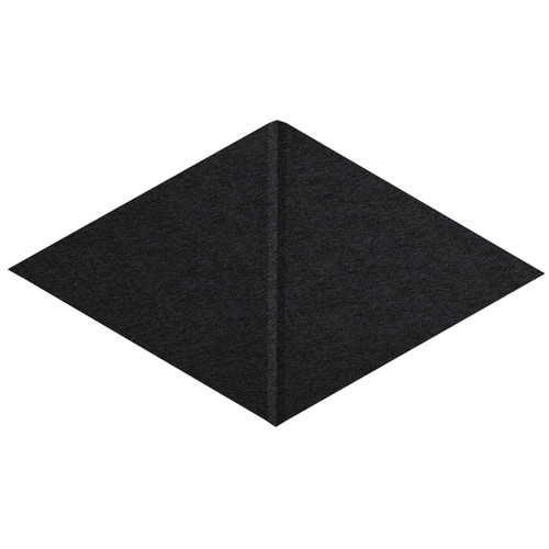 """Wall-Mounted SoundSorb Acoustic Panels 12"""" x 21"""" Rhomboid Canyon Black High Density Polyester"""