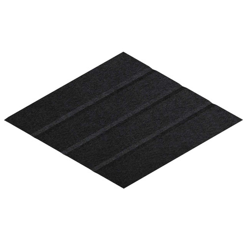 "Wall-Mounted SoundSorb Acoustic Panels 12"" x 21"" Rhomboid Page Left Black High Density Polyester"