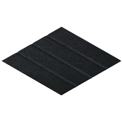 """Wall-Mounted SoundSorb Acoustic Panels 12"""" x 21"""" Rhomboid Page Right Black High Density Polyester"""