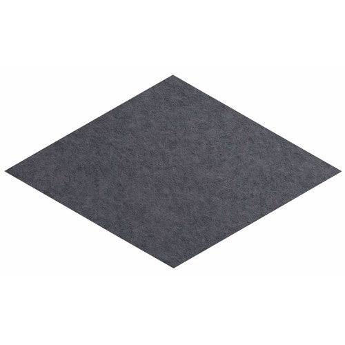 "Wall-Mounted SoundSorb Acoustic Panels 12"" x 21"" Rhomboid Flat Dark Gray High Density Polyester"