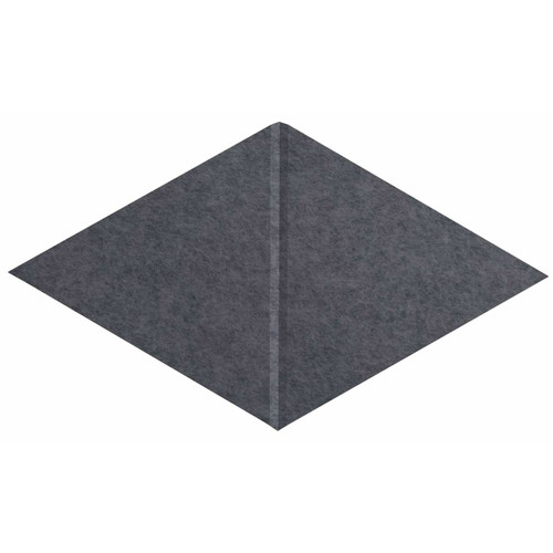 "Wall-Mounted SoundSorb Acoustic Panels 12"" x 21"" Rhomboid Canyon Dark Gray High Density Polyester"