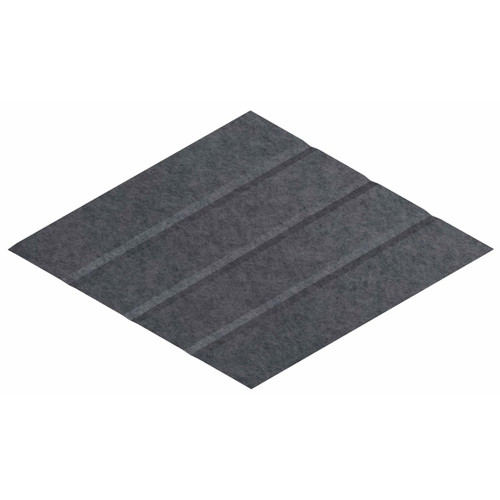 "Wall-Mounted SoundSorb Acoustic Panels 12"" x 21"" Rhomboid Page Left Dark Gray High Density Polyester"