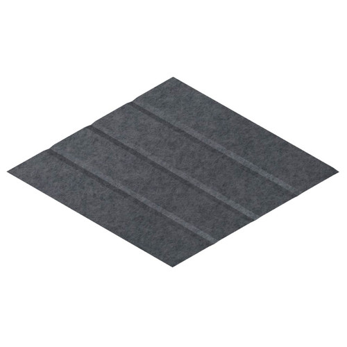 "Wall-Mounted SoundSorb Acoustic Panels 12"" x 21"" Rhomboid Page Right Dark Gray High Density Polyester"