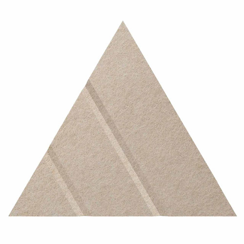 "Wall-Mounted SoundSorb Acoustic Panels 12"" Arrow Triangle Beige High Density Polyester"