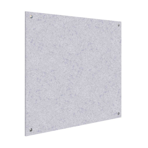 Wall-Mounted Standoff SoundSorb Acoustic Panels 4' x 4' Marble Gray High Density Polyester