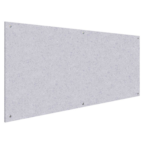Wall-Mounted Standoff SoundSorb Acoustic Panels 4' x 8' Marble Gray High Density Polyester