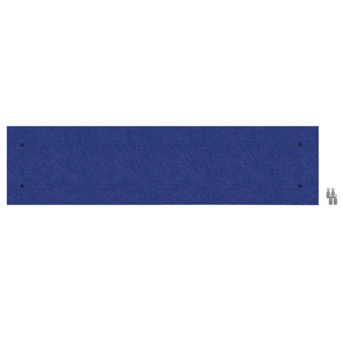 Wall-Mounted Standoff SoundSorb Acoustic Panels 1' x 4' Blue High Density Polyester