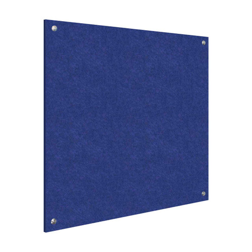 Wall-Mounted Standoff SoundSorb Acoustic Panels 4' x 4' Blue High Density Polyester