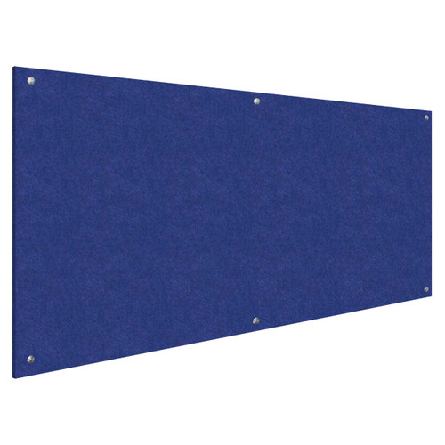 Wall-Mounted Standoff SoundSorb Acoustic Panels 4' x 8' Blue High Density Polyester