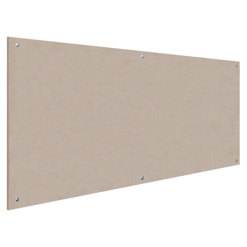 Wall-Mounted Standoff SoundSorb Acoustic Panels 4' x 8' Beige High Density Polyester