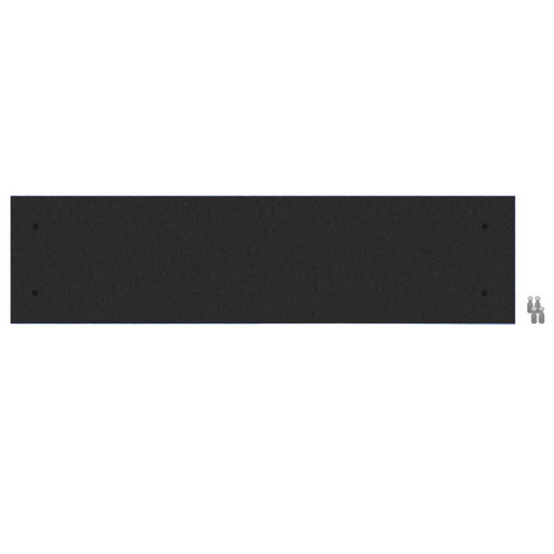 Wall-Mounted Standoff SoundSorb Acoustic Panels 1' x 4' Black High Density Polyester