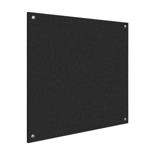 Wall-Mounted Standoff SoundSorb Acoustic Panels 4' x 4' Black High Density Polyester