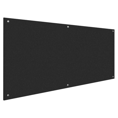 Wall-Mounted Standoff SoundSorb Acoustic Panels 4' x 8' Black High Density Polyester