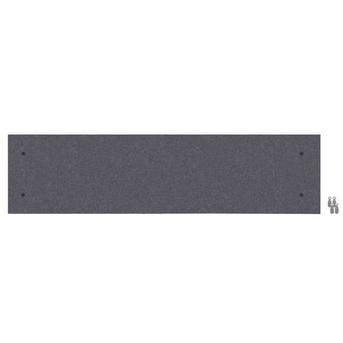 Wall-Mounted Standoff SoundSorb Acoustic Panels 1' x 4' Dark Gray High Density Polyester