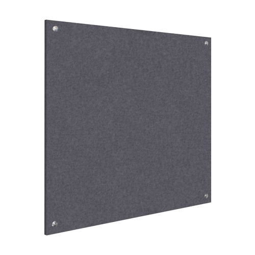 Wall-Mounted Standoff SoundSorb Acoustic Panels 4' x 4' Dark Gray High Density Polyester