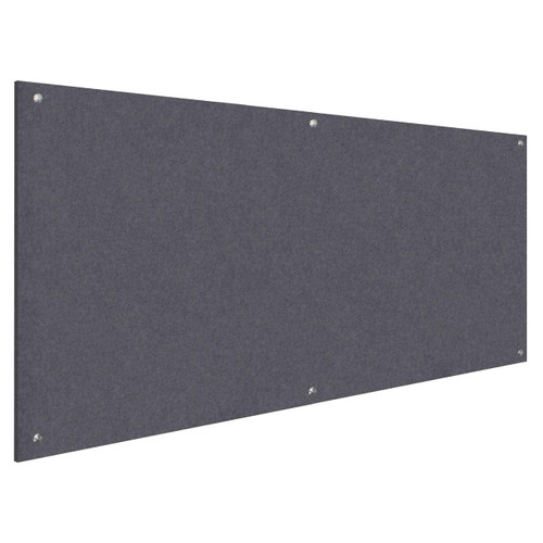 Wall-Mounted Standoff SoundSorb Acoustic Panels 4' x 8' Dark Gray High Density Polyester