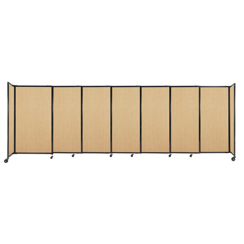 """StraightWall Sliding Portable Partition 15'6"""" x 5' Natural Maple Wood Grain"""