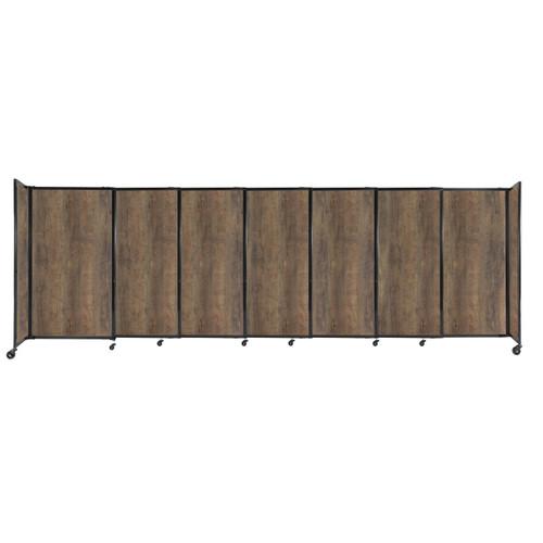 "StraightWall Sliding Portable Partition 15'6"" x 5' Urban Oak Wood Grain"