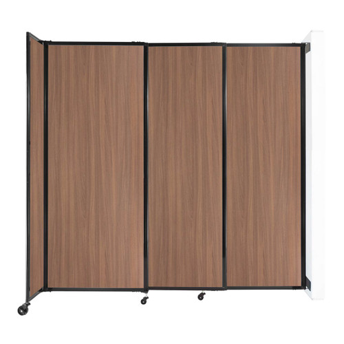 """Wall-Mounted StraightWall Sliding Partition 7'2"""" x 6'10"""" River Birch Wood Grain"""