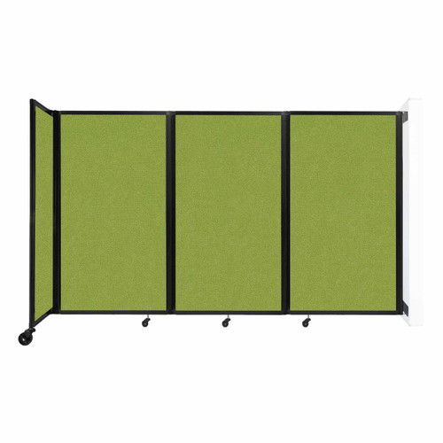 """Wall-Mounted Room Divider 360 Folding Partition 8'6"""" x 5' Lime Green Fabric"""