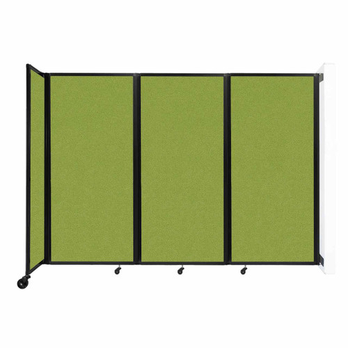 """Wall-Mounted Room Divider 360 Folding Partition 8'6"""" x 6' Lime Green Fabric"""