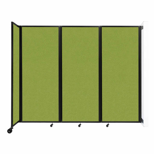 """Wall-Mounted Room Divider 360 Folding Partition 8'6"""" x 6'10"""" Lime Green Fabric"""