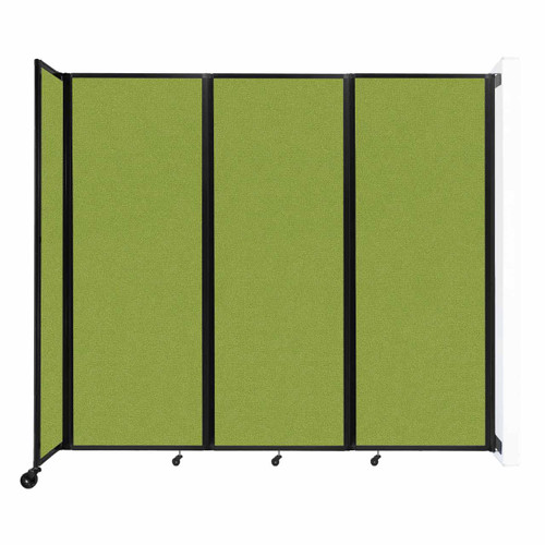 """Wall-Mounted Room Divider 360 Folding Partition 8'6"""" x 7'6"""" Lime Green Fabric"""