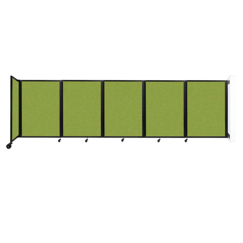 Wall-Mounted Room Divider 360 Folding Partition 14' x 4' Lime Green Fabric