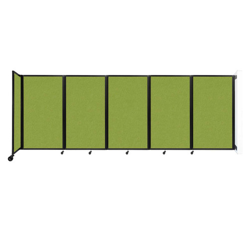 Wall-Mounted Room Divider 360 Folding Partition 14' x 5' Lime Green Fabric