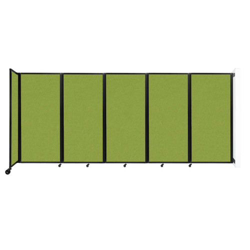 Wall-Mounted Room Divider 360 Folding Partition 14' x 6' Lime Green Fabric