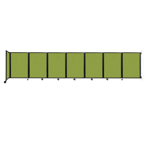 """Wall-Mounted Room Divider 360 Folding Partition 19'6"""" x 4' Lime Green Fabric"""