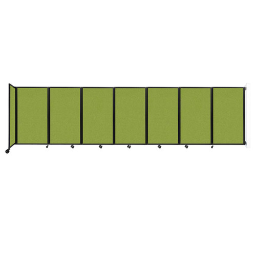 """Wall-Mounted Room Divider 360 Folding Partition 19'6"""" x 5' Lime Green Fabric"""