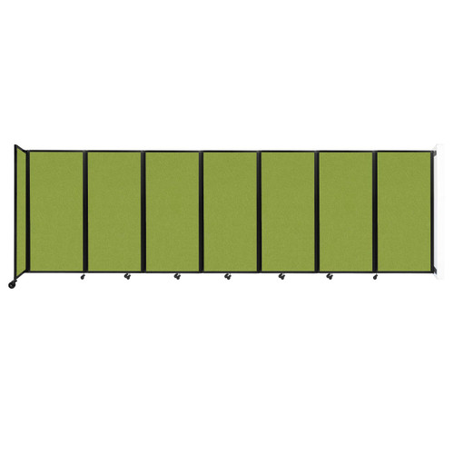 """Wall-Mounted Room Divider 360 Folding Partition 19'6"""" x 6' Lime Green Fabric"""