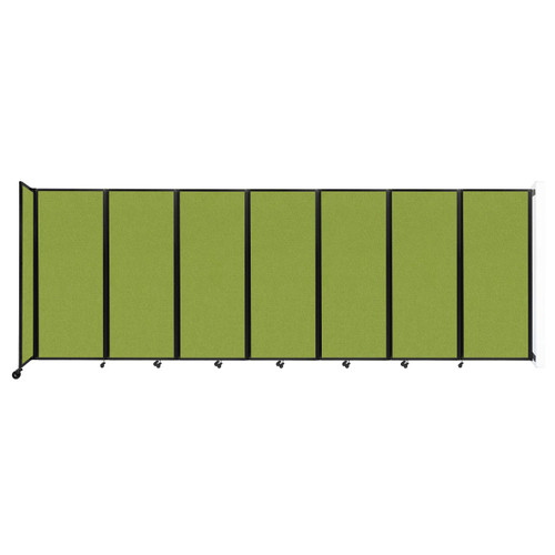 """Wall-Mounted Room Divider 360 Folding Partition 19'6"""" x 6'10"""" Lime Green Fabric"""