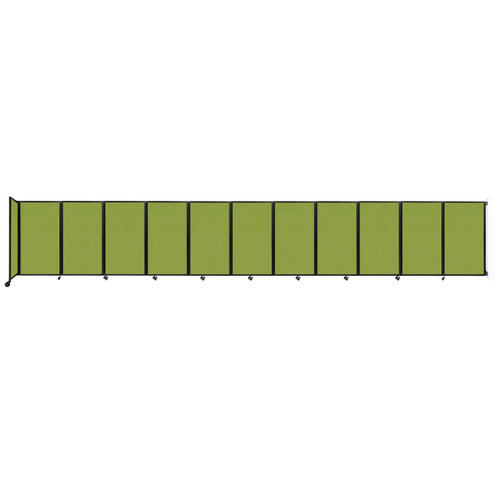 """Wall-Mounted Room Divider 360 Folding Partition 30'6"""" x 5' Lime Green Fabric"""