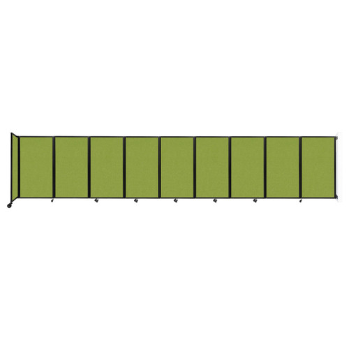 Wall-Mounted Room Divider 360 Folding Partition 25' x 5' Lime Green Fabric