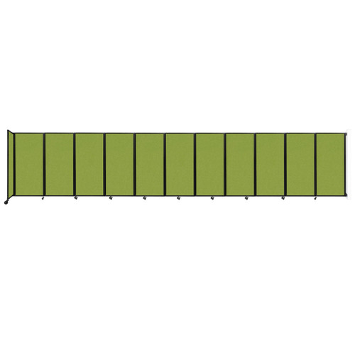 """Wall-Mounted Room Divider 360 Folding Partition 30'6"""" x 6' Lime Green Fabric"""