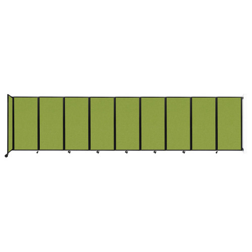 Wall-Mounted Room Divider 360 Folding Partition 25' x 6' Lime Green Fabric