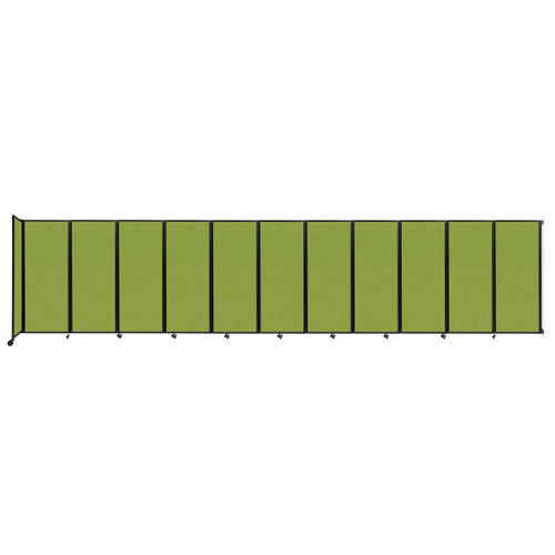 """Wall-Mounted Room Divider 360 Folding Partition 30'6"""" x 6'10"""" Lime Green Fabric"""