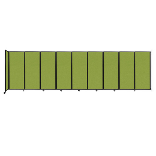 """Wall-Mounted Room Divider 360 Folding Partition 25' x 6'10"""" Lime Green Fabric"""